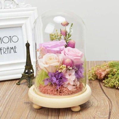•FLOYA•保鮮花永生花玻璃罩 中號 母親節/情人節/生日/anniversary禮物