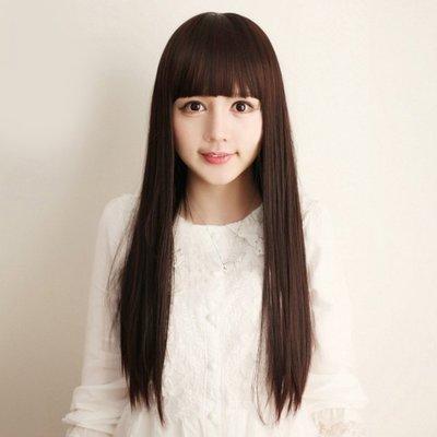 水媚兒假髮9M340♥新款女士假髮 齊瀏海 古典長直髮♥ 現貨或預購