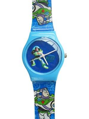 【卡漫迷】 巴斯光年 兒童錶 藍底白針 ㊣版 Toy Story 卡通錶 玩具總動員 Buzz 男錶 女錶 膠錶 手錶