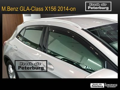 比德堡嵌入式晴雨窗 賓士M.BENZ GLA-Class GLA200d (X156) 2014年起專用 (全車四片價)