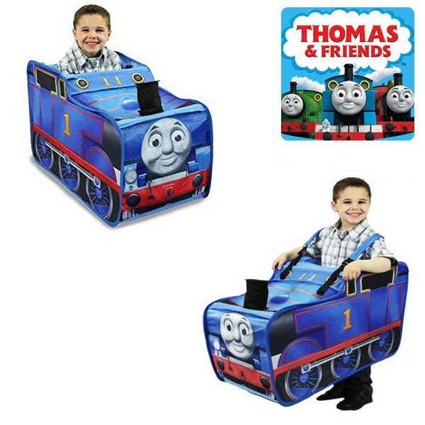 出口歐美Thomas湯瑪士小火車造型款小小火車駕駛員遊戲帳篷(3歲以上適用)萬聖節Party也適用哦~