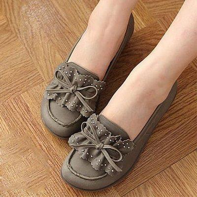 寬楦 超軟Q厚底氣墊休閒鞋  台灣手工鞋