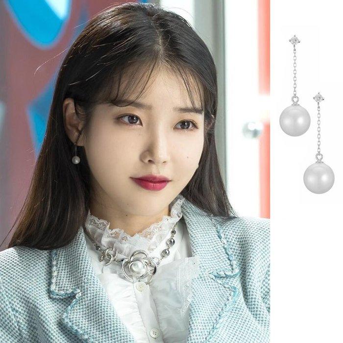 預購-韓劇同款德魯納酒店IU同款耳環耳釘耳飾女新款李知恩
