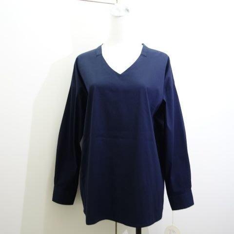☆注目の日本百貨公司品牌HERBIER 2020秋冬新款藍色OVER SIZE後打摺長袖襯衫☆