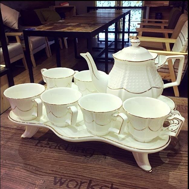 骨瓷杯-歐式咖啡杯套裝英式高檔茶具創意陶瓷杯簡約家用花茶杯