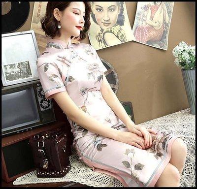 【Fashion歐洲站】年輕旗袍春夏 新款少女中國風日常走秀改良式旗袍連衣裙中長款