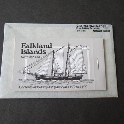 【雲品二】福克蘭群島Falkland Islands 1978 ship Booklet MNH #3 庫號#B301 47156