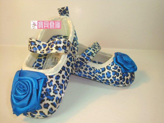 寶貝倉庫~藍豹紋公主鞋~學步鞋~時尚寶寶鞋~帆布鞋~幼兒鞋~公主鞋~彌月禮~促銷價一雙127元
