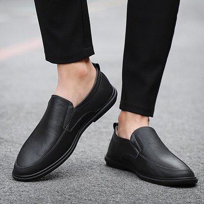 【時尚先生男裝】大碼男鞋2020春夏新款男士休閑皮鞋英倫真皮豆豆鞋男鞋駕車鞋鞋子 2005240190