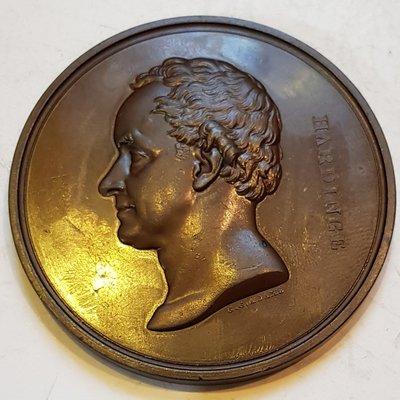英國銅章 1846 UK Indian Medal Sir Henry Hardinge Bronze Medal.