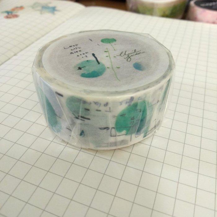 【R的雜貨舖】紙膠帶分裝 非整捲 小徑 X 夏米花園 聯名合作款 - 空 Sora