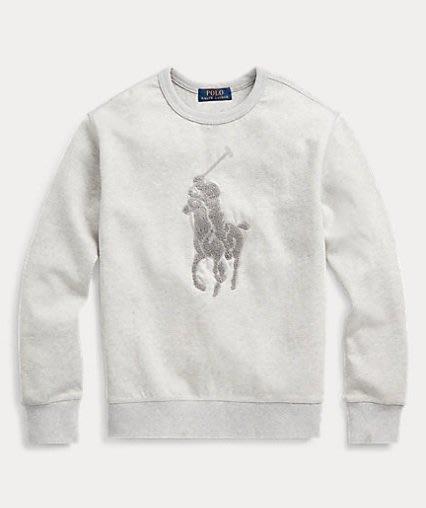 Polo Ralph Lauren 大馬 大學T 青年款 現貨 灰色
