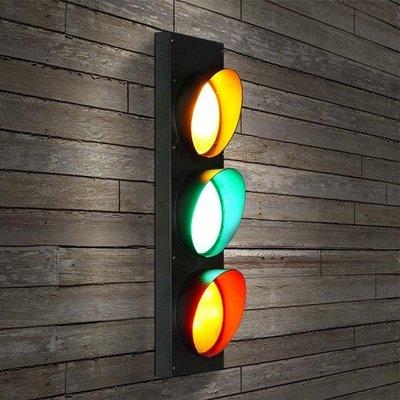 5Cgo【燈藝師】含稅會員有優惠 522158124117 美式餐廳咖啡廳兒童房燈創意戶外工業風交通紅綠燈壁燈220V電