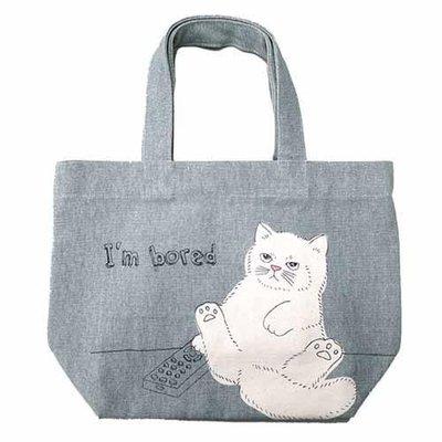 ◎Life Sense◎【PEAPOD】日本 hachiwae 貓咪手提袋 手提包 便當袋 溜狗散步袋  午餐袋
