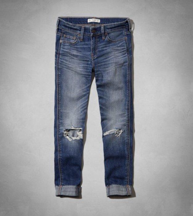 Abercrombie&Fitch -AF 刷破洗舊風牛仔褲 8號含運優惠2480元