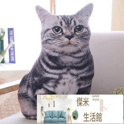 仿真貓咪抱枕大臉貓創意3d毛絨玩具女生搞怪玩偶娃娃可愛萌DSHY【傑米生活館】