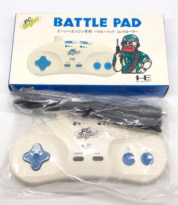 NEC PC-Engine Battle Pad 連發功能手把 全新品 收藏美品 日本製MIJ