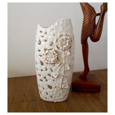 【現貨】鏤空 立體雕花花瓶 ~~昌侑藝術CHY畫廊