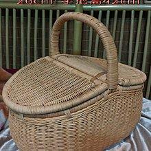 R5505-1/2/3--大-$1300元中-$1100元小-$1000元本色橢圓籐編野餐籃