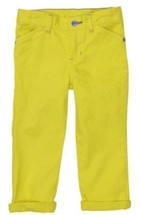 【Nichole's歐美進口優質童裝】Carter's 中性款 鬆緊帶牛仔長褲 (檸檬黃)  *另有Old Navy/OshKosh