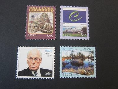 【雲品】愛沙尼亞Estonia 1999 Sc 357-60 sets(4) MNH 庫號#77031