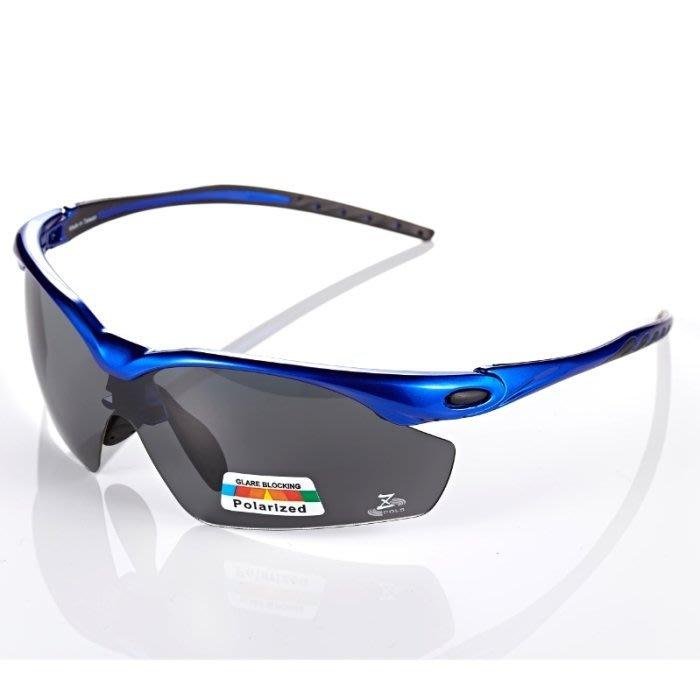 【視鼎Z-POLS太空纖維三代款】新一代TR彈性輕量材質搭載100%Polarized頂級偏光運動眼鏡!(寶藍款)