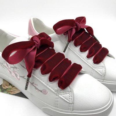鞋帶新品金絲絨鞋帶歐美復古宮廷綁帶小白鞋帆布鞋運動鞋百搭鞋帶    全館免運