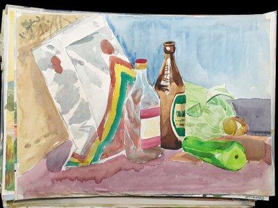 [清倉] 藏澐閣 - [直標商品]早期美術系學生水彩佳作 一張1元隨機出貨
