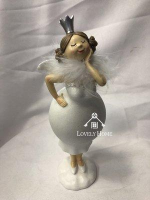 (台中 可愛小舖)歐式古典風格優雅戴皇冠翅膀自信豐腴天使波麗娃娃居家愛好者收藏自家擺飾飯店收藏店家民宿