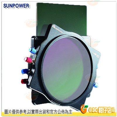 送旋轉支架 SUNPOWER Reverse GND 0.9 減3格 100x150mm 反向漸層減光鏡 公司貨 方型