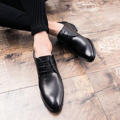星韓印象~英倫男士尖頭皮鞋正韓潮流商務正裝時裝皮鞋夜店髪型師結婚休閒鞋