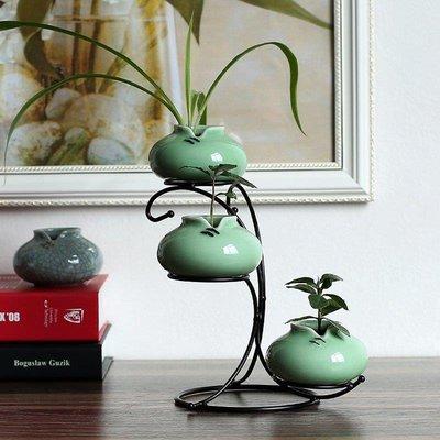 日和生活館 花器龍泉青瓷現代簡約家居客廳裝飾擺件工藝品小清新創意陶瓷花瓶 S686