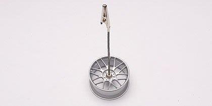 AUTOart廠牌 RACING WHEEL MEMO CLIPPING STAND (SILVER) 輪框 名片夾【台中AUTO勁車】
