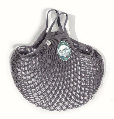 [現貨]  短手把鐵灰色M號-法國Filt購物袋/漁網袋