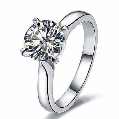 0.5克拉進口莫桑鑽卡家4爪18k金包鉑金鑲鑽戒求婚 結婚 情人節禮物 莫桑石  FOREVER鑽寶訂製