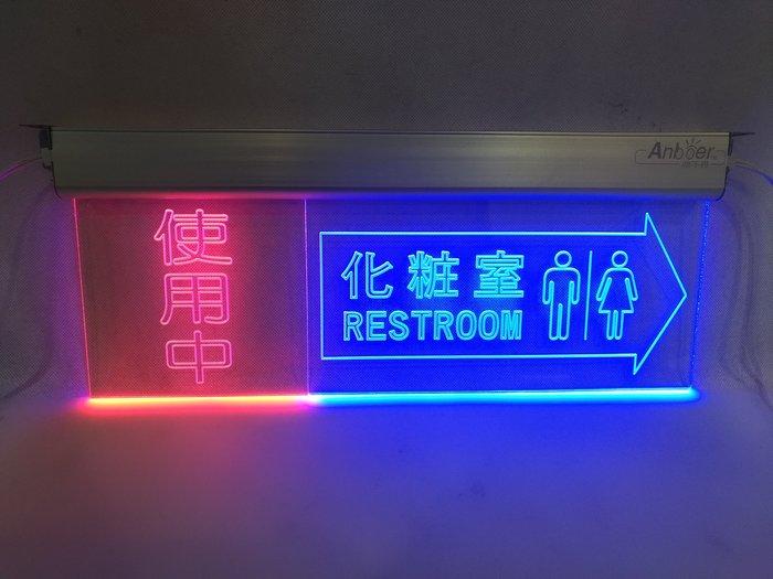 阿囉哈光電【客訂】訂製使用中/ 壓克力雷雕 指示燈