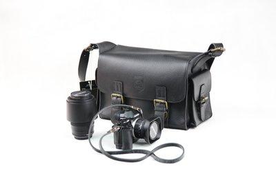 @佳鑫相機@(全新品)Profashion 復古真皮相機包(M-黑) 6D 80D 800D 760D(單眼1機2鏡)適