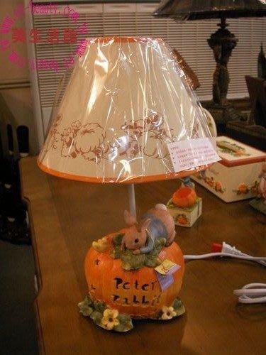 美生活館---全新比得兔南瓜子母檯燈/桌燈--送禮自用皆宜