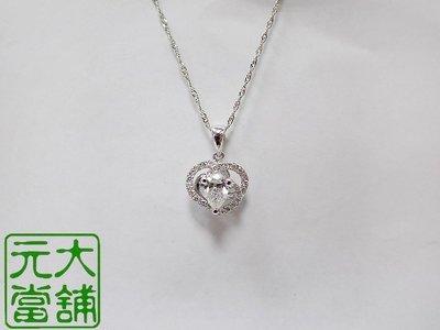 【元大當舖】流當精品~GIA鑽石 0.50克拉 奢華配鑽 鑽石項鍊 義大利18K鍊