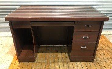 樂居二手家具 便宜2手傢俱拍賣 CE0318DJJ 胡桃書桌 電腦桌 各式辦公鐵櫃/文件櫃/電腦桌/活動櫃優惠特價