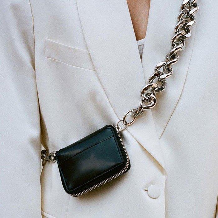 FINDSENSE X 韓國 女士 時尚超迷你小包 粗鏈條 斜挎包 側背包 單肩包 小方包