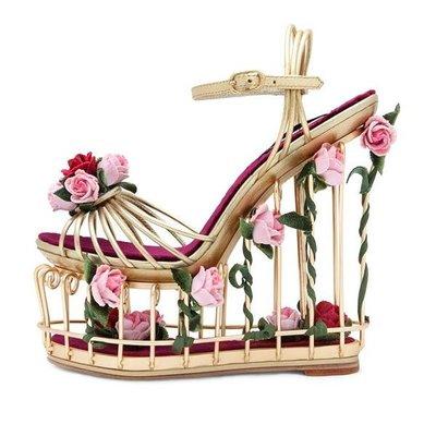 5Cgo【鴿樓】會員有優惠 43164192664 超高跟藝術跟鳥籠款玫瑰花镂空水台花園金屬跟-GM款定制涼鞋