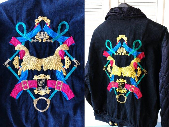 原價七萬多 Laurel 深藍刺繡 boyfriend 外套