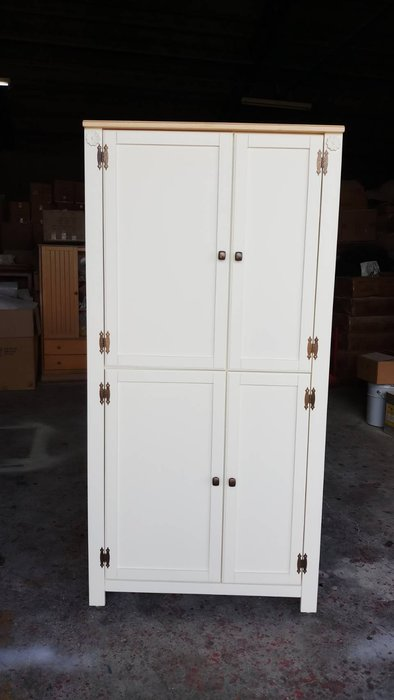 鄉村家具 客製化 訂製品 美生活館 茵儷 雙色 (淺木色+白色) 衣櫃 衣櫥 收納櫃 包包 收納 儲物櫃