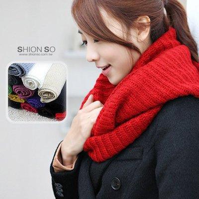 享瘦衣身中大尺碼‧熱賣促銷超低價189元‧【A4007】日韓風粗毛呢造型圍脖式圍巾
