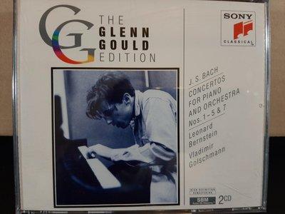 Gould,Bach-Piano Concertos No.1-5&7,顧爾德,巴哈-鋼琴協奏曲1-5&7號,2CD,如新。