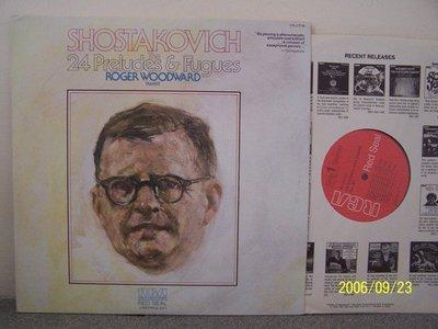 【RCA LP名盤】1754.蕭士塔柯維契:24首前奏曲與賦格,Woodward鋼琴,2LPs