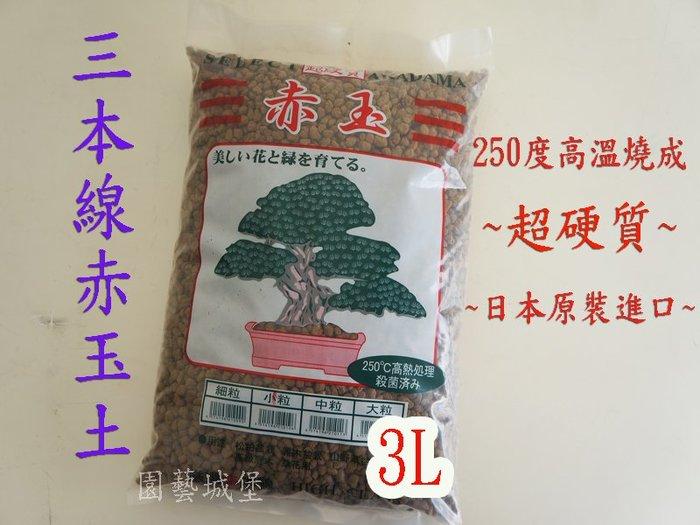 【園藝城堡】三本線赤玉土-3L(大粒下標區)日本原裝進口(超硬質顆粒土)