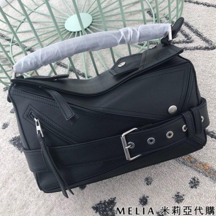 Melia 米莉亞代購 商城特價 數量有限 每日更新 19ss LOEWE PUZZLE BAG 機車包 中號 黑色
