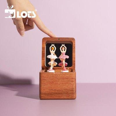 の青檸小站の LOTS樂思禮品 旋轉八音盒跳舞芭蕾女孩木質音樂盒公主女生日禮物